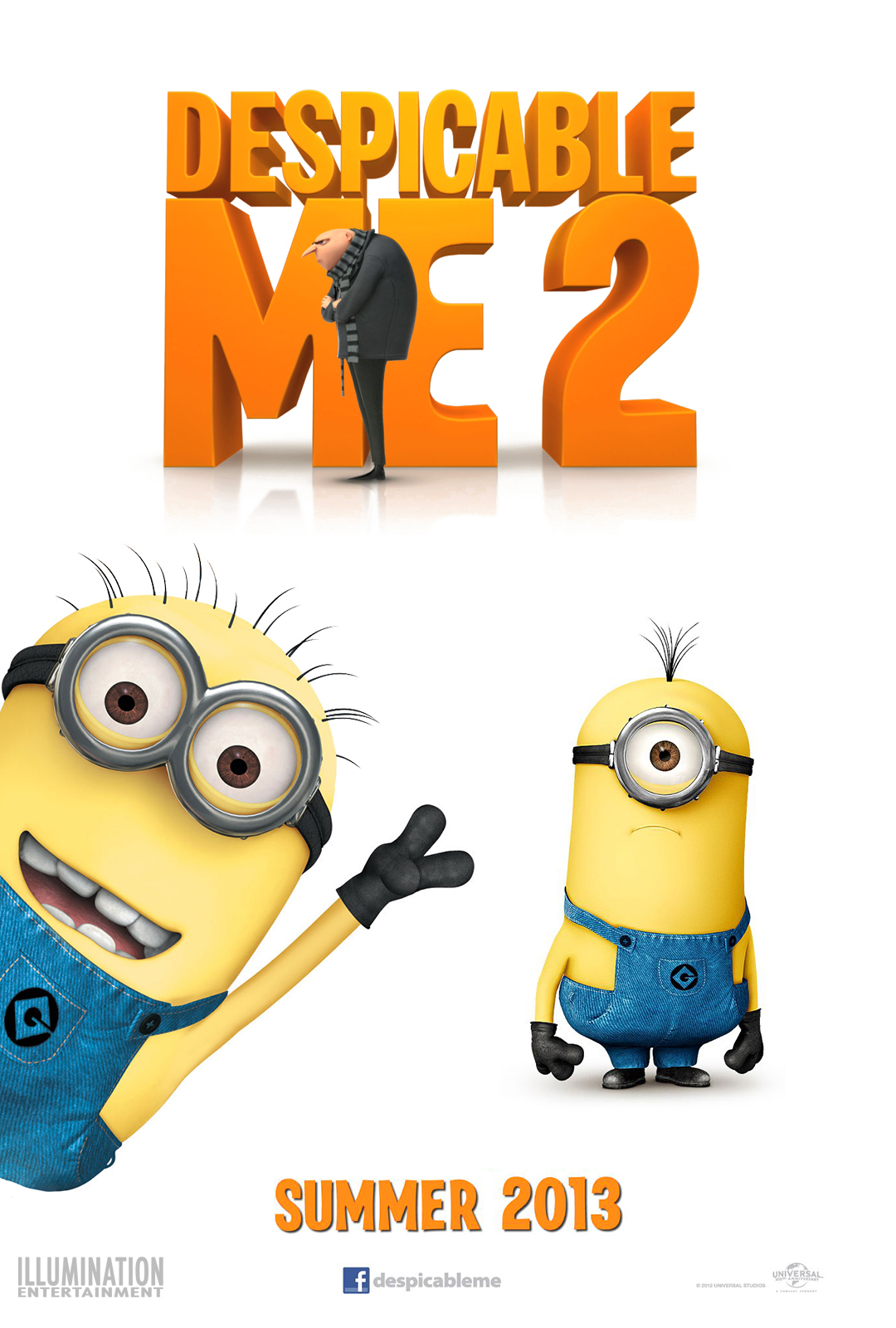 Despicable Me 2 Poster By Illumination Cg Animation Blog